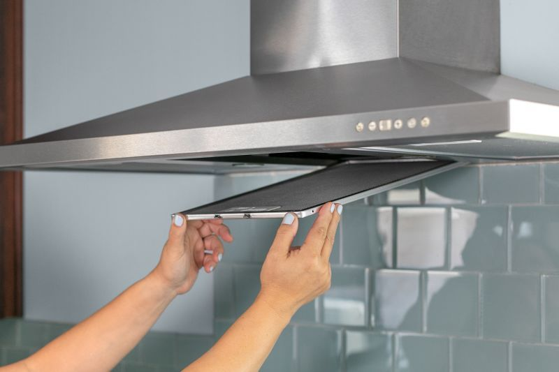 How To Clean A Greasy Range Hood Filter Kitchen Exhaust Range