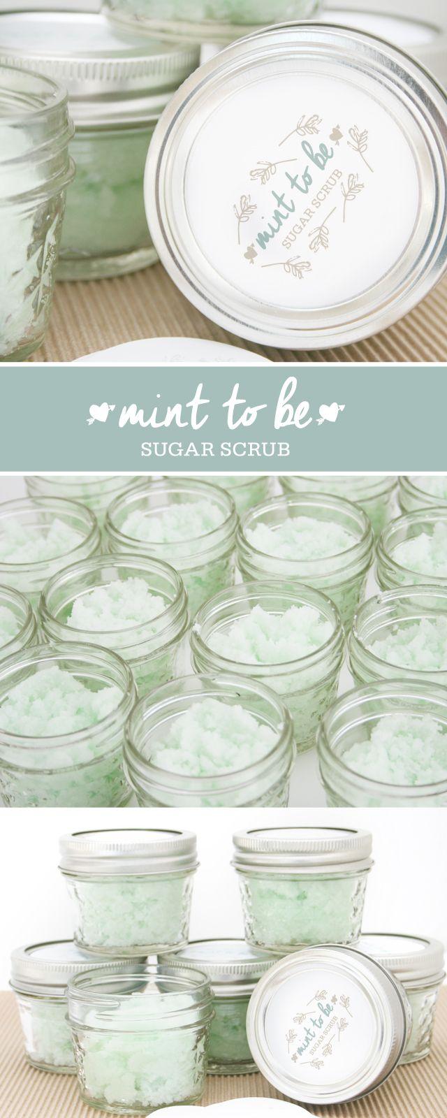 craft ideas homemade bridal shower decoration%0A DIY Mint to Be Sugar Scrub  Bridal Shower Favor