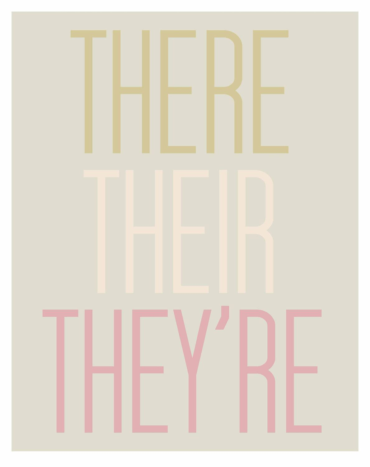 THERE THEIR THEY'RE - archival grammar art print. Brilliance!