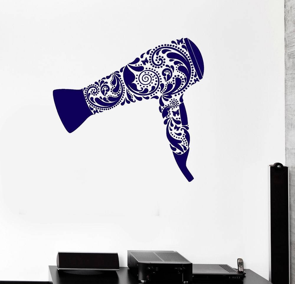 vinyl decal hairdryer barber tool hairdresser hair salon wall vinyl decal hairdryer barber tool hairdresser hair salon wall stickers 137ig
