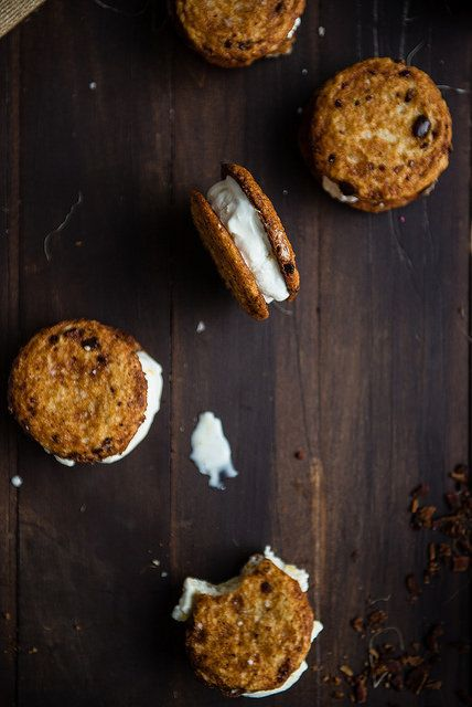 bacon and sweet corn ice cream sandwiches