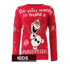 #Kid's #Do You Want To Build A Snowman #Christmas #Jumpers