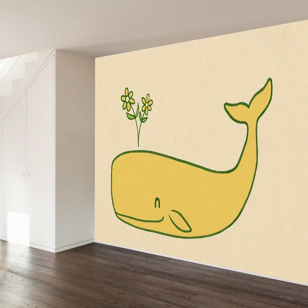 Peace Whale Wall Mural   Vinyl wall art, Adhesive and Wall decals