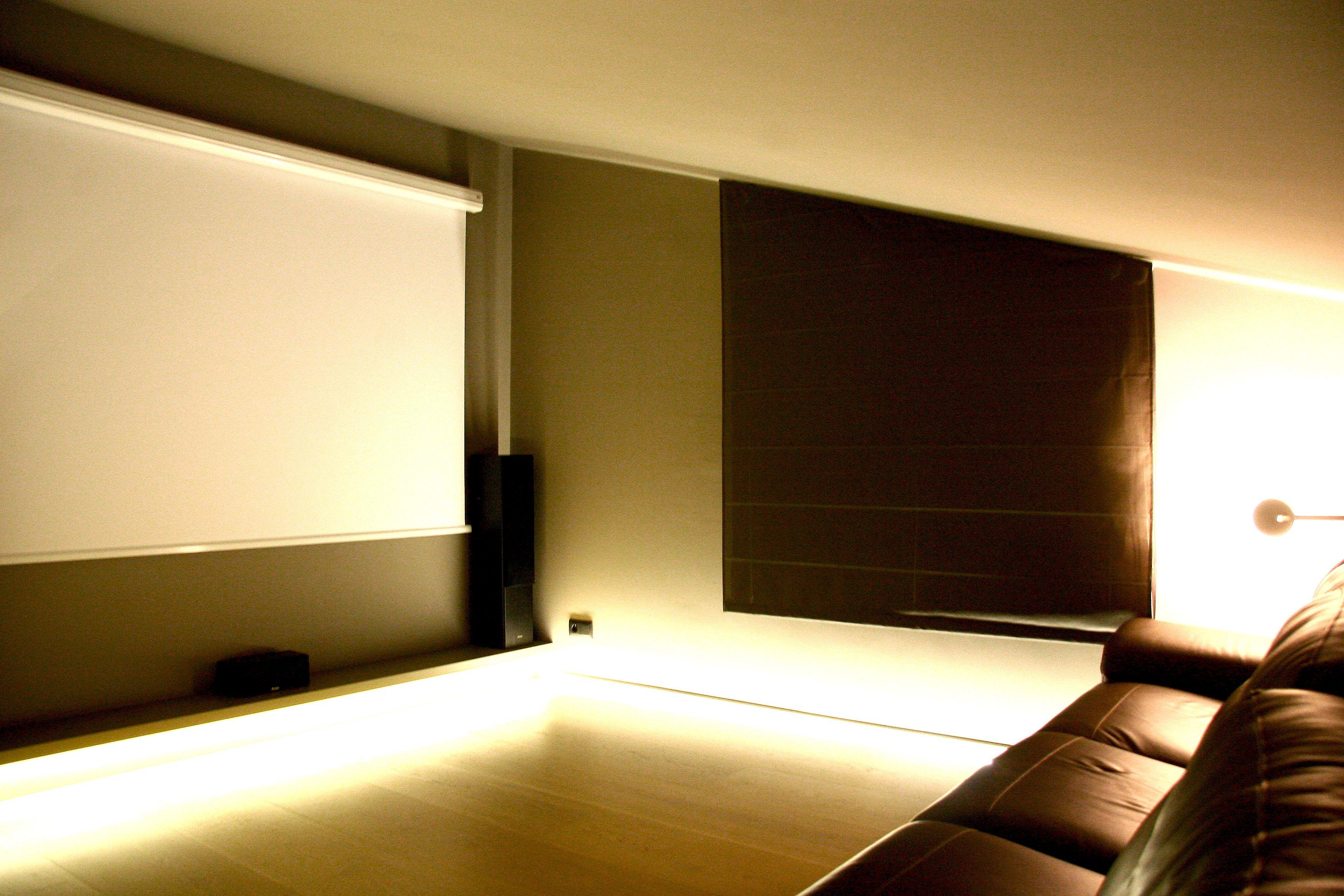 Rehabilitaci II Habitatge Sala De Cinema Illuminaci Jordi