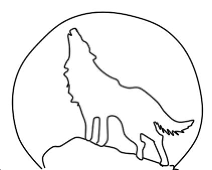 Gallery For Wolf Howling At Full Moon Drawing Moon Coloring Pages Moon Drawing Coloring Pages