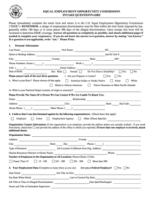 Eeoc Complaint Form  The Lord Yashua    Lord