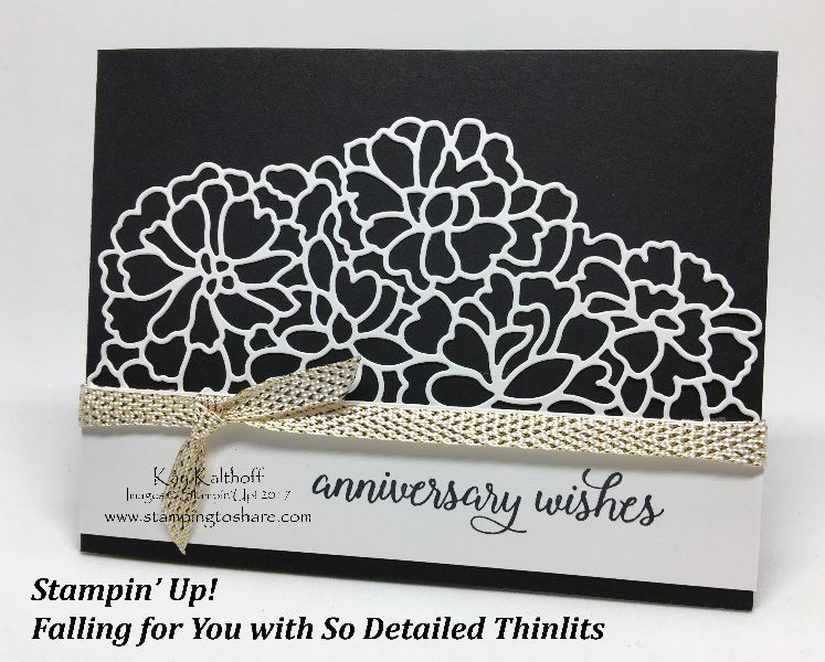 An anniversary card with the so in love bundle plus how to