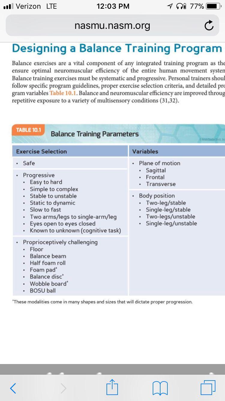 NASM image by Jordan Conticello Balance exercises