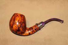 Neerup Classic Gr 3 Smooth Apple with Purple Lucite Stem