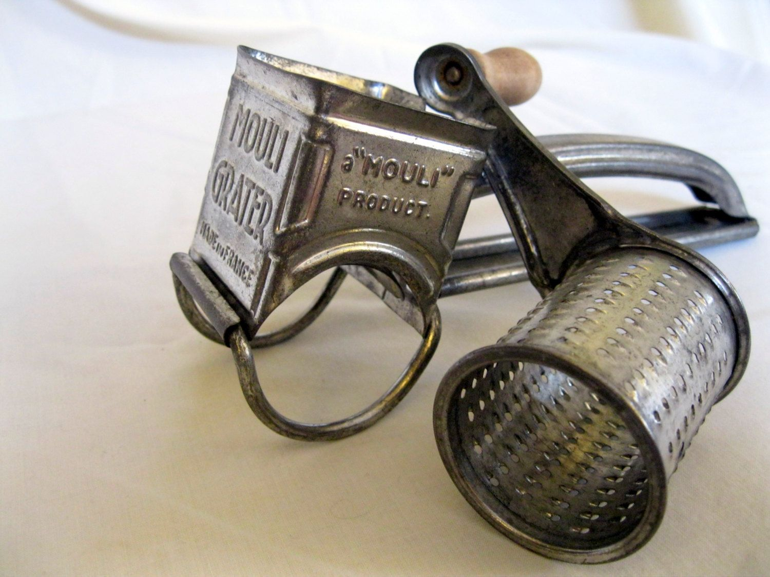 Vintage Mouli Grater Made In France Stainless Steel Perfect For Grating Parm Over Your Salads Le Moulin Souvenirs D Enfance Made In France