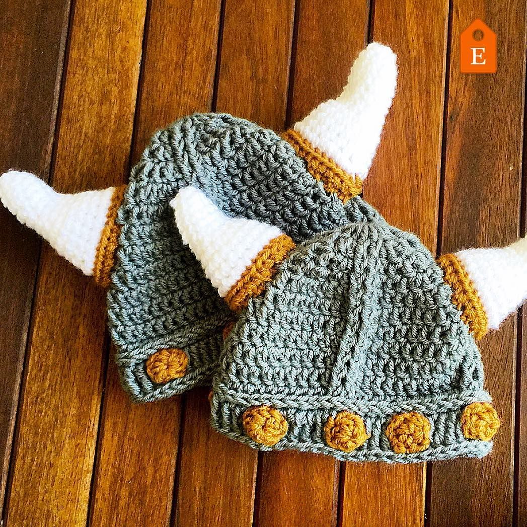 The Thor Viking Helmet The crochet pattern is now available in 0 to ...