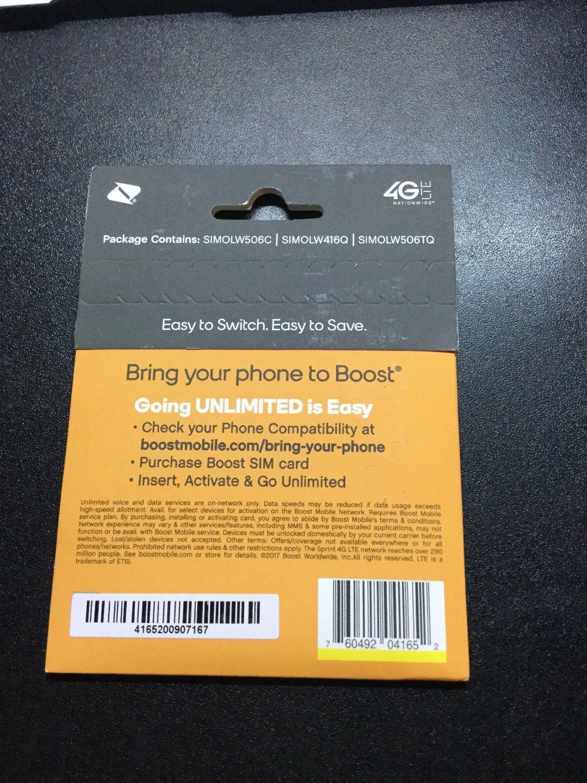 Boost mobile tribranded sim card activation kit brand