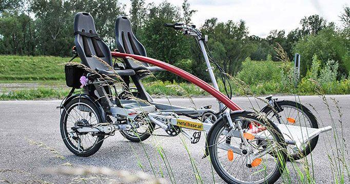 Wie man ein Tandem Fahrrad mit zwei Fahrrädern herstellt