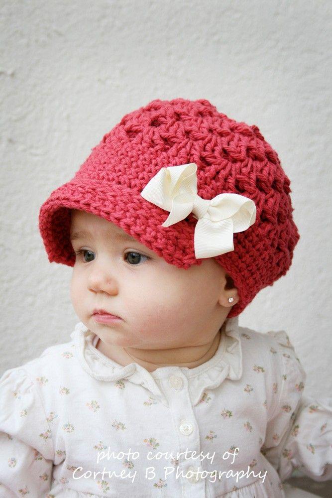 Gorro para bebé (crochet) | caniya | Pinterest | Mütze, Häkeln und ...