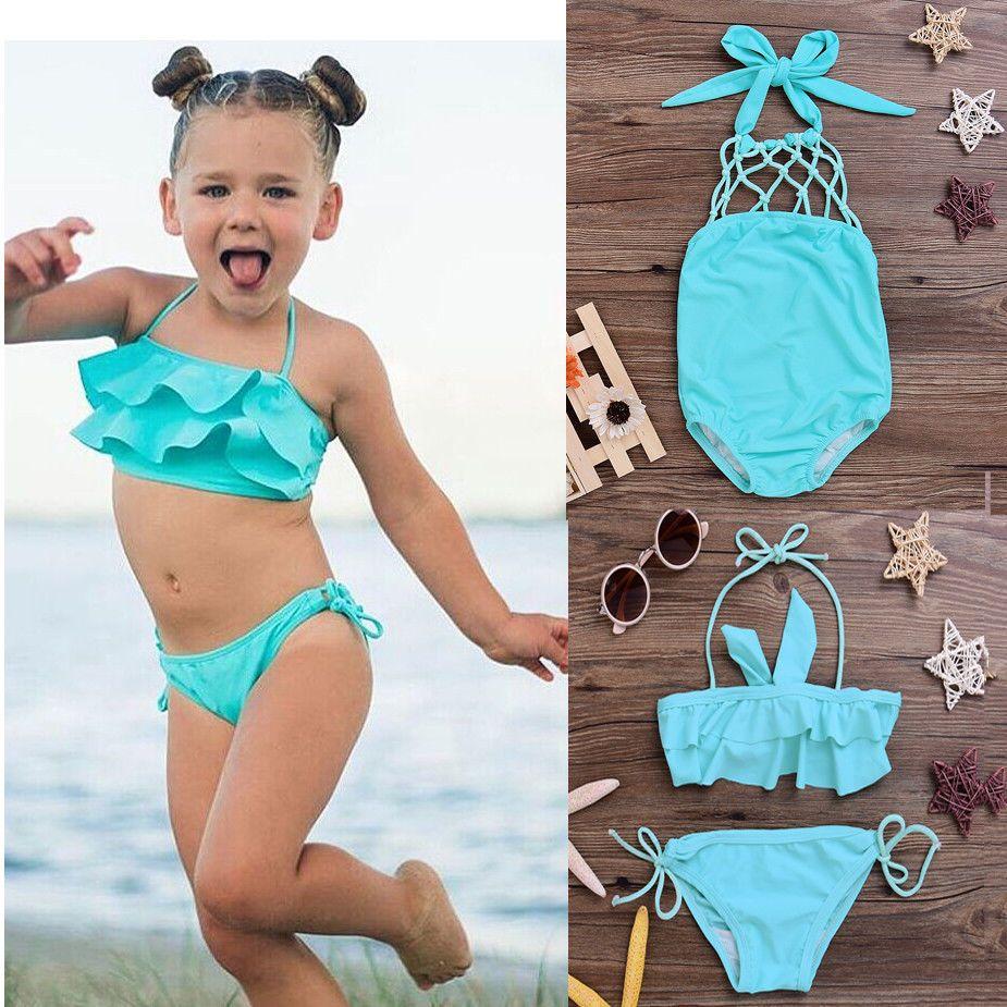 a01a680445 купить Itfabs дети купальники Falbala одежда для купания для девочек для  маленьких детей biquini Infantil купальник бикини для девочек Новинка 2017  года ...