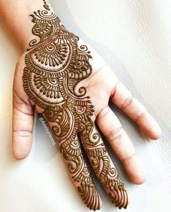 indian arabic mehndi designs for hands