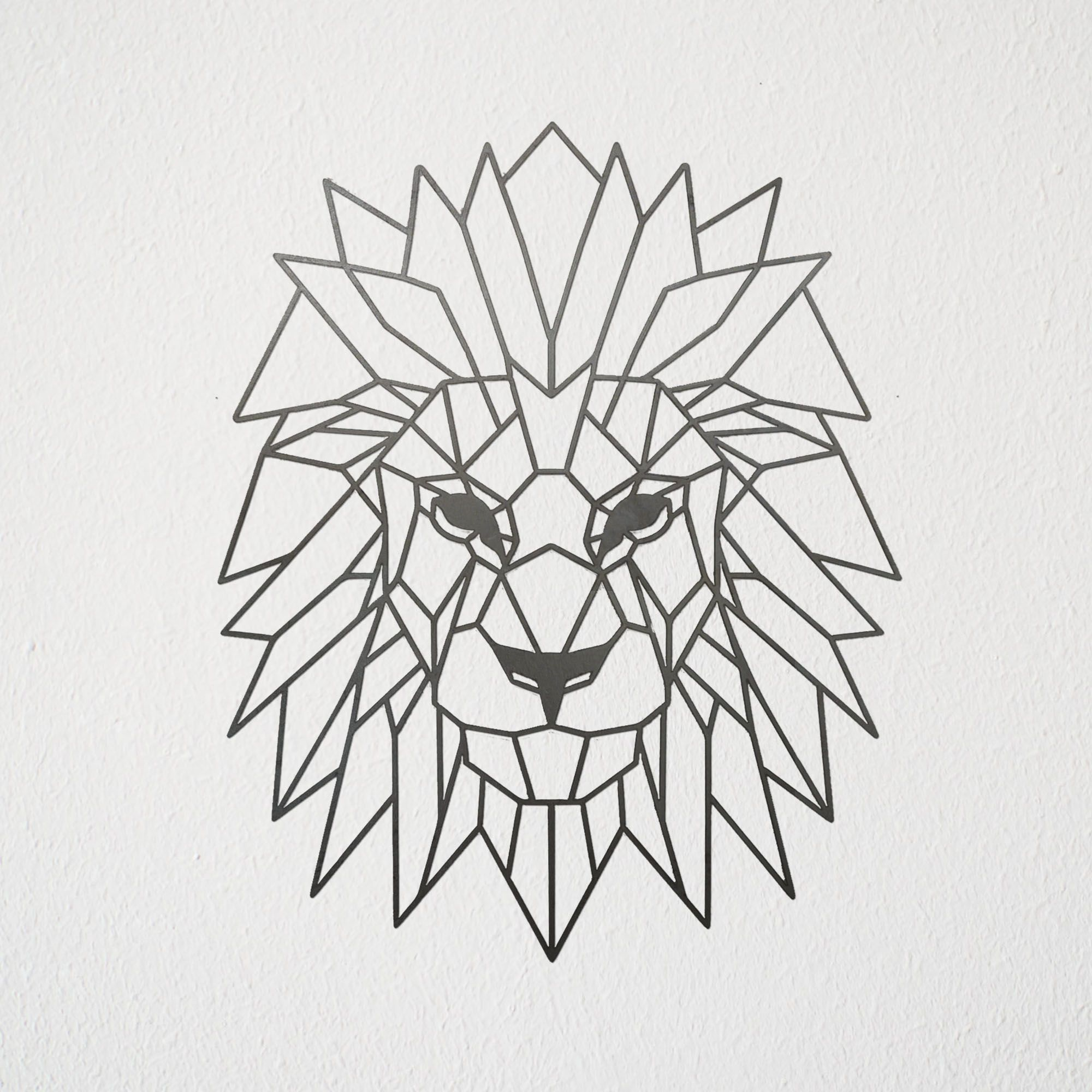 Geometric Lion Wall Art Wallart Metalart Lion