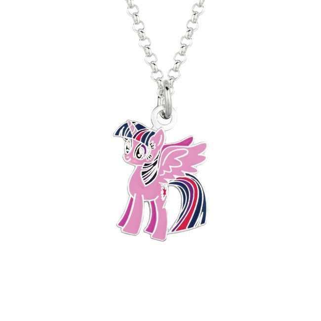 Fine silvertone twilight sparkle my little pony pendant necklace childrens necklaces for less aloadofball Gallery