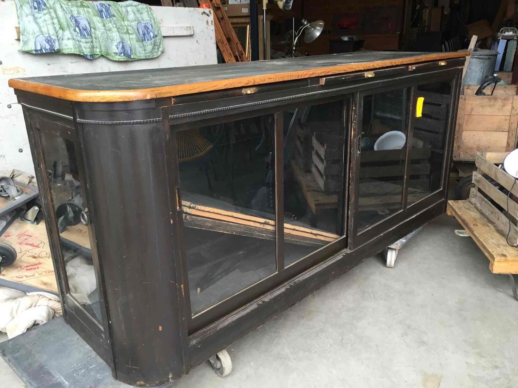 Antique pine counter - 03 Antique and Brocante Furniture - Davidowski