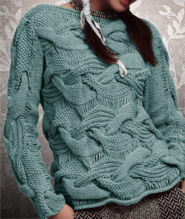 Womens Hand Knitted Boatneck Sweater 10c Suter Seoras