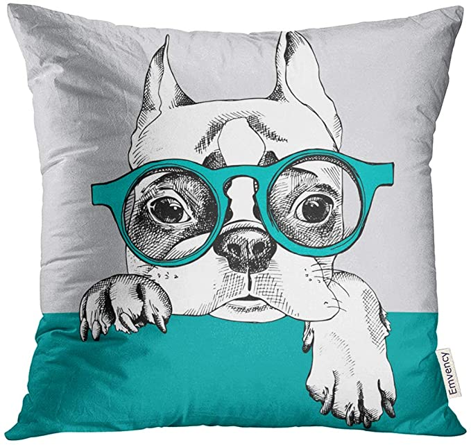 Emvency Throw Pillow Cover Dog with