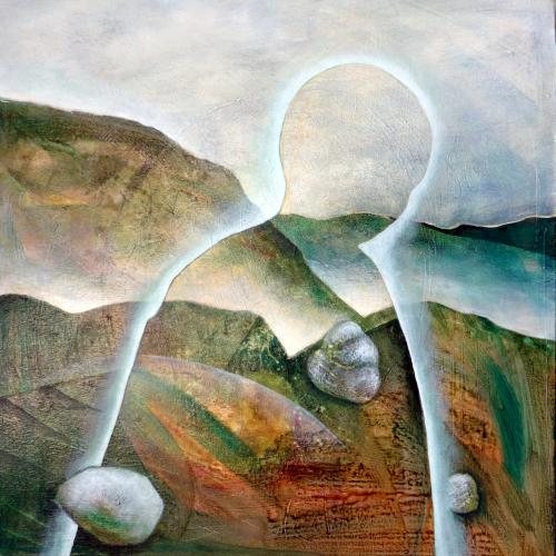 O T Von Gerda Lipski Abstraktes Arbeitswelt Malerei