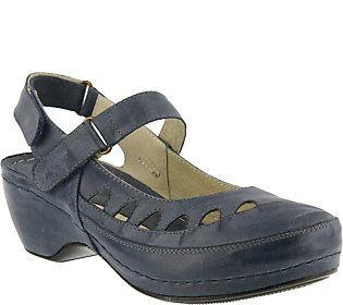 Spring Step Leather Slingback Sandals - Surina