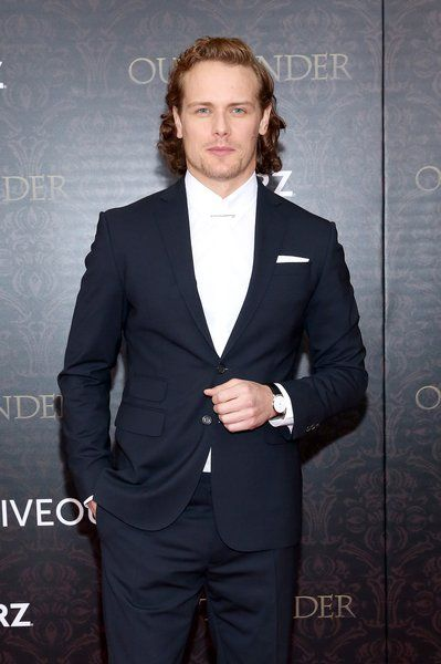 Sam Heughan attends the 'Outlander' Season 2 World Premiere at American Museum of Natural History on April 4, 2016 in New York City