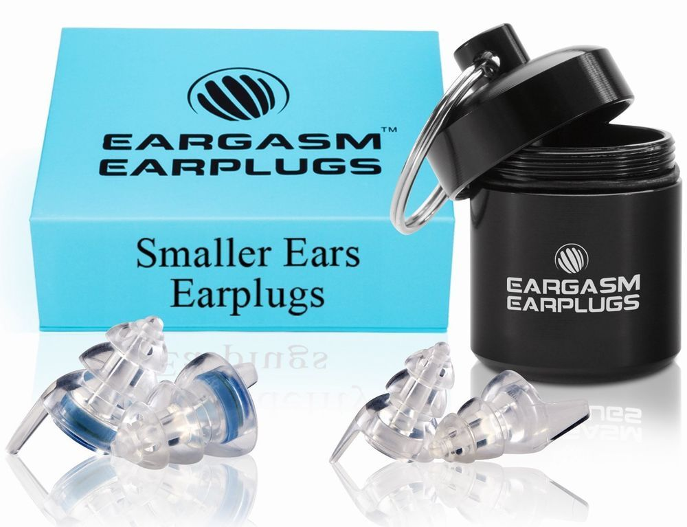 Eargasm smaller ears earplugs 2 different shell sizes