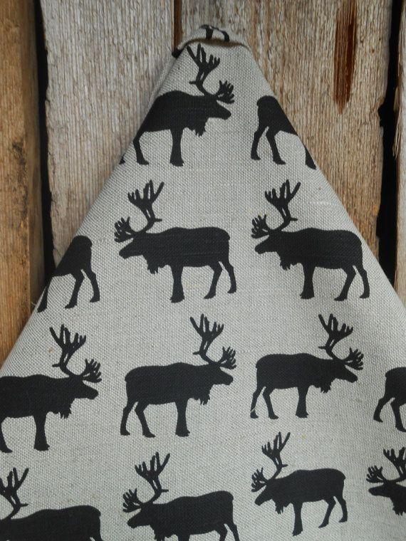 Christmas Tea Towel Moose Towel Christmas Decor Kitchen Towel Moose Decor Dish Towel Christmas Ornament Christmas