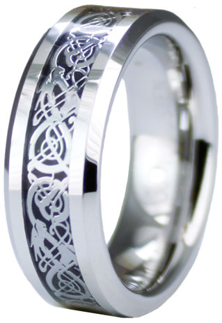 Tioneercom ring Superior Cobalt Ring Dragon Inlay Design
