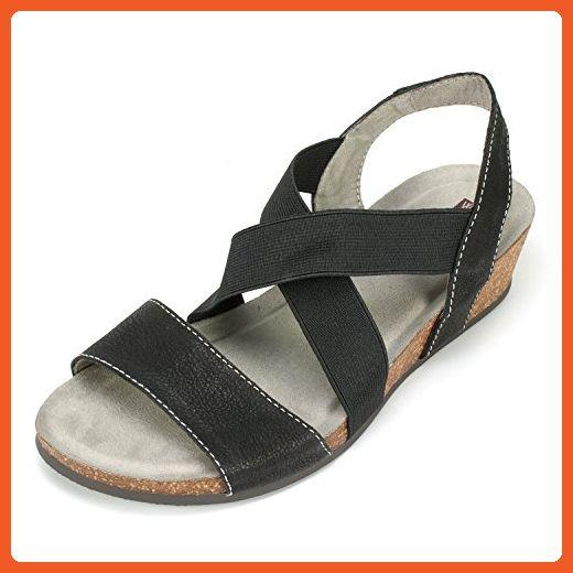 f26421bf1f682 White Mountain Women's Carlisa Wedge Sandal, Black, 9 M US - Sandals ...