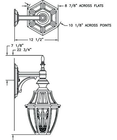 Hanover lantern b13412 augusta medium 3 light outdoor wall light hanover lantern b13412 augusta medium 3 light outdoor wall light aloadofball Images