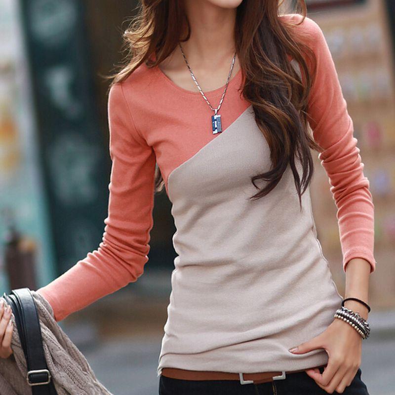 Aliexpress.com   poleras de mujer t shirt women tshirt 2016 fashion womens  long sleeve tops tee shirt femme cotton t-shirt casual camisetas mujer 931f19bcb13a