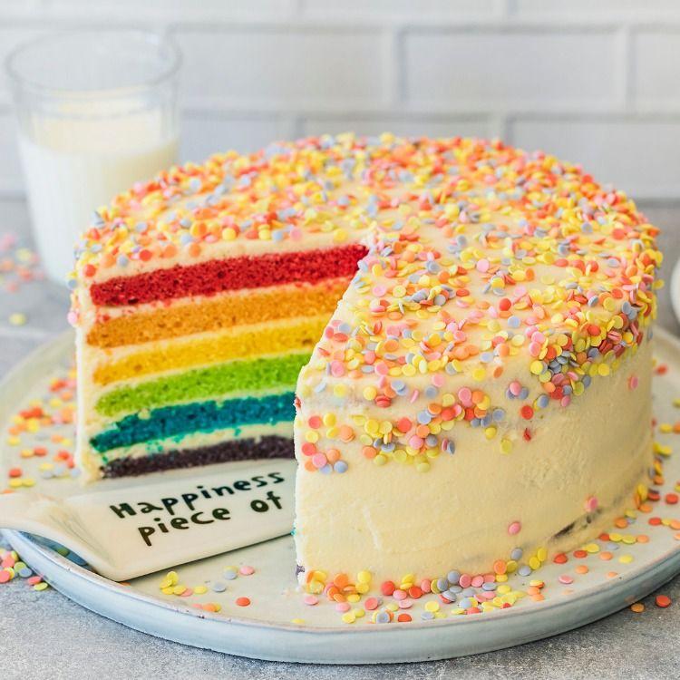 Regenbogenkuchen Einfach Selbermachen Die Besten Backrezepte Mit Gelinggarantie Rezept Kuchen Rezepte Fur Kinder Geburtstagskuchen Kind Regenbogen Kuchen