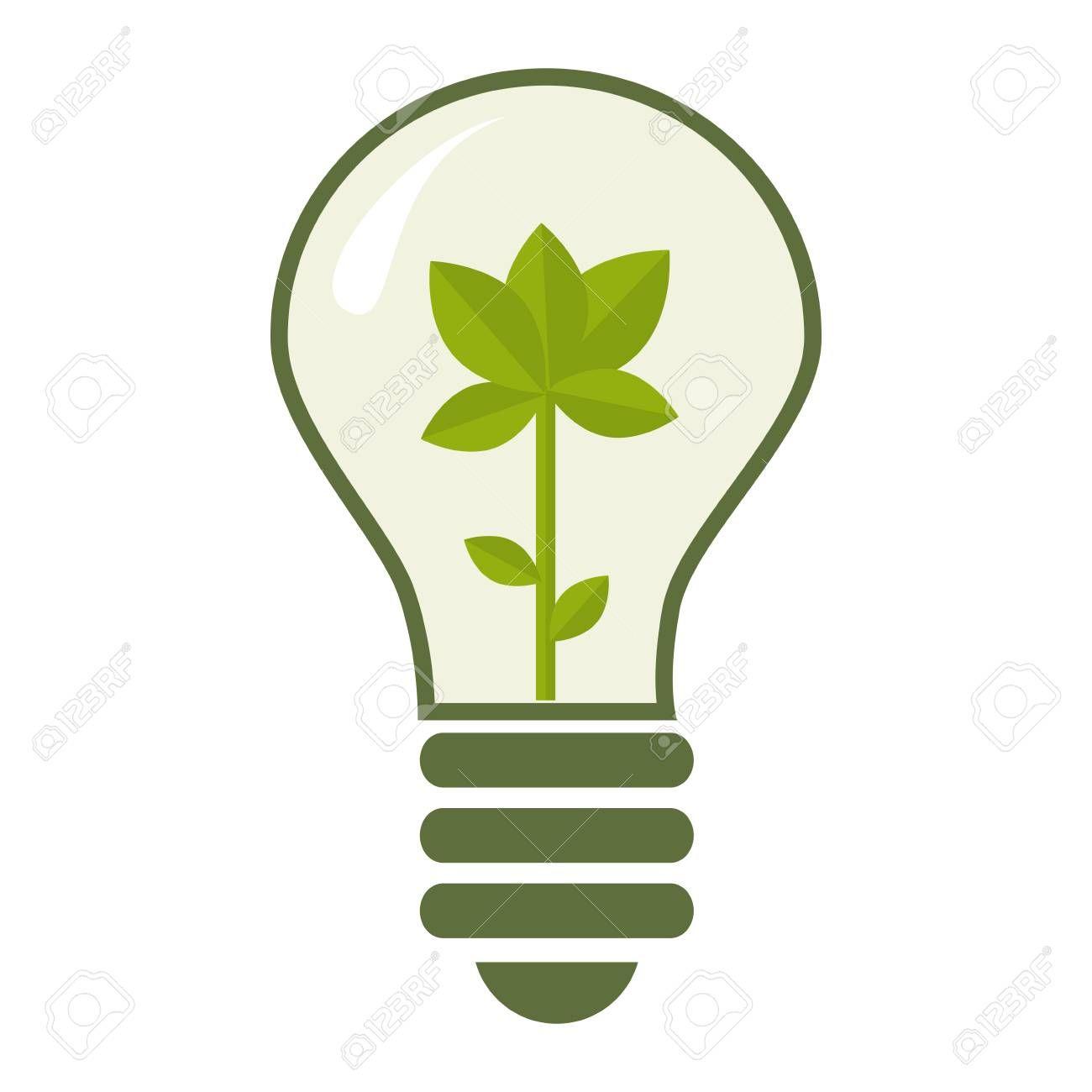 Icono De Medio Ambiente Bombilla De Reciclaje En 2020 Bombillas Medio Ambiente Reciclaje