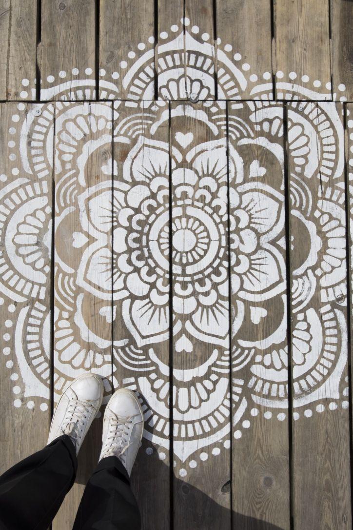 Mandala Stencils Yoga Mandala D I Y Make Your Own Mandala Www