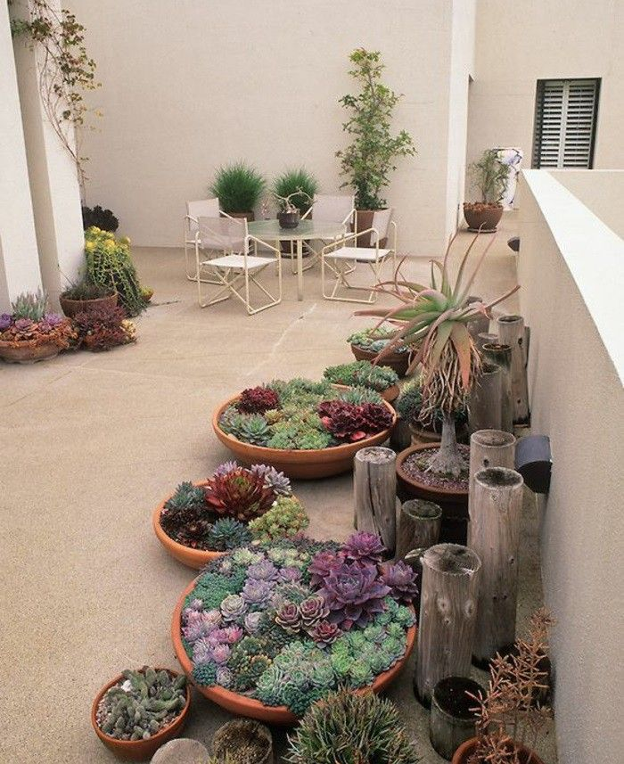 Terrace planting and green patio ideas #landschaftsbauideen