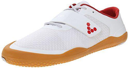 Vivobarefoot Men's Motus Cross Fit Shoe, White/Red, 40 EU/7.5-8 M US Vivobarefoot
