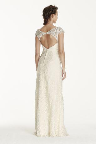 75cecc5e3810 Melissa Sweet Beaded Cap Sleeve Lace Wedding Dress Style MS251122 ...