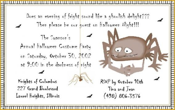 Party Halloween Party Invitation Wording As Your Chosen Appealing