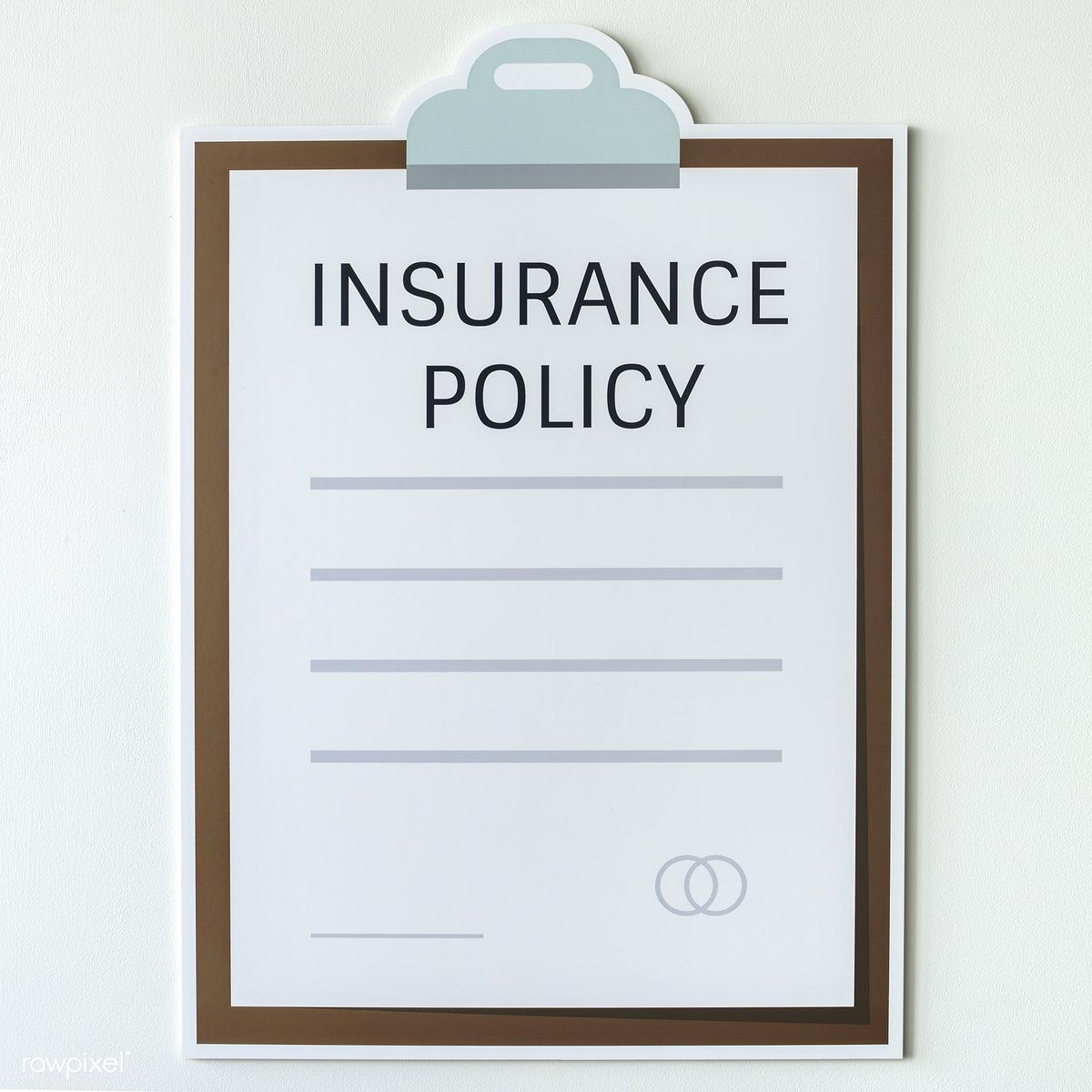 Insurance policy information form icon