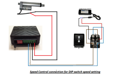 How To Use A Speed Controller With A Linear Actuator Linear Actuator Actuator Circuit Board