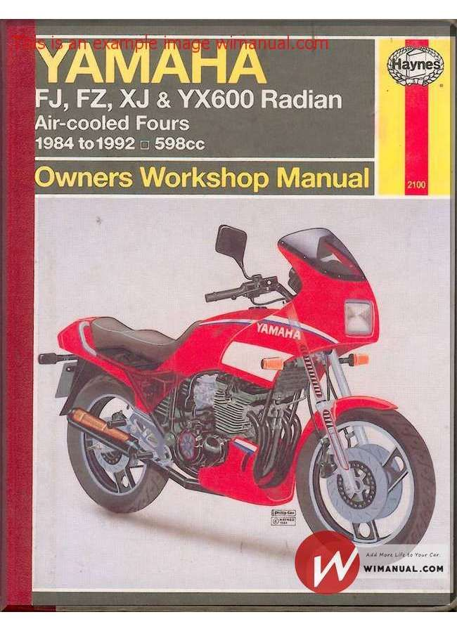 yamaha fj fz xj yx600 84 92 service manual pdf download this manual rh pinterest com yamaha fj 1100 service manual yamaha fj 1100 service manual download