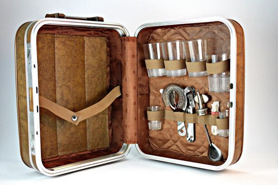Traveling Bar Set Portable Bar Case And Accessories Suitcase Bar