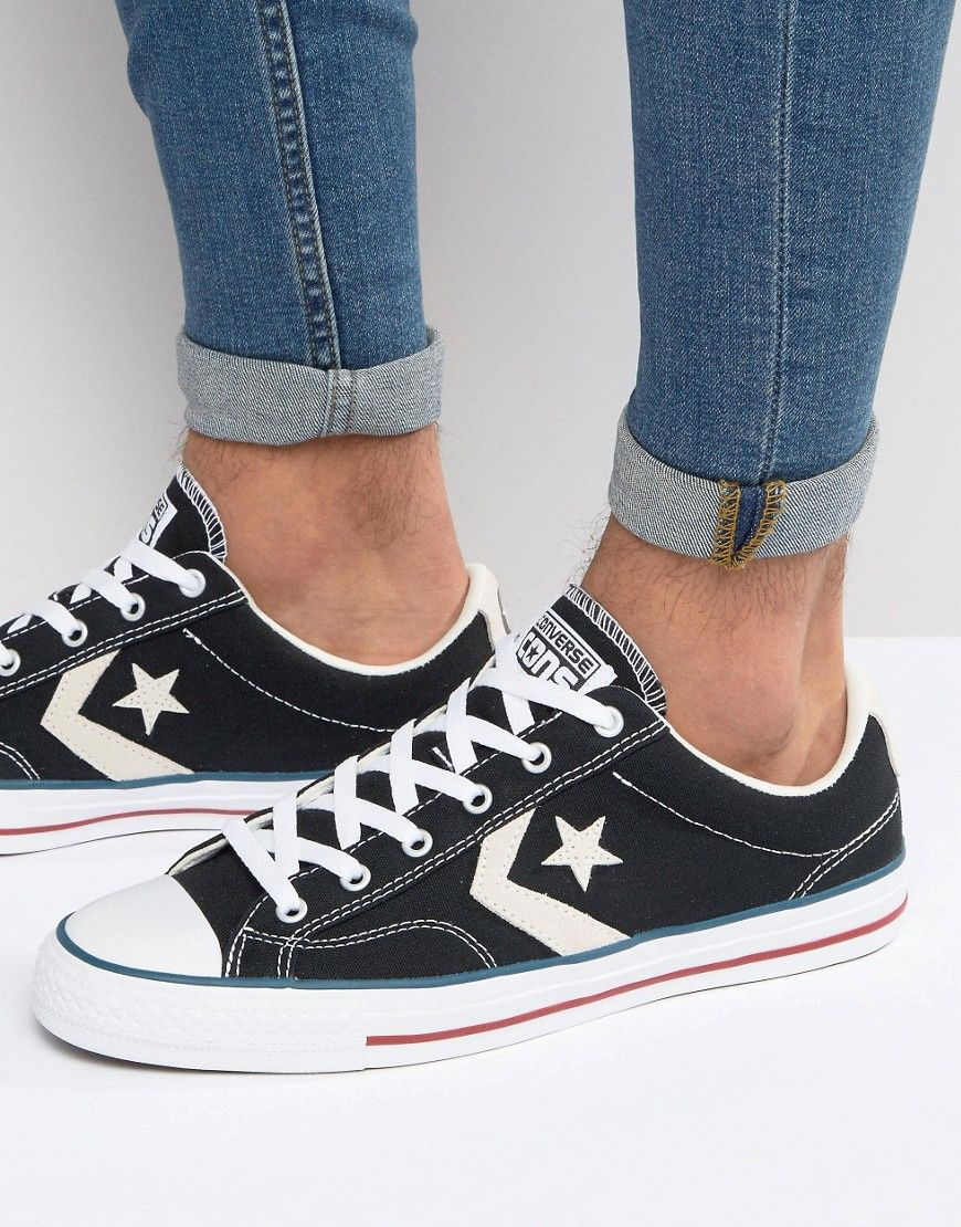 Star Player In Black 144145C - Black Converse Under 50 Dollars Knock Off Cheap Discount Authentic J0Fgu4z