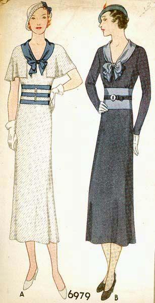 McCall 6979   1932 Misses' Dress