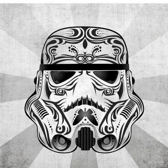 595584ae Day of the Dead Sugar Skull - Storm Trooper | I feel like I can do ...