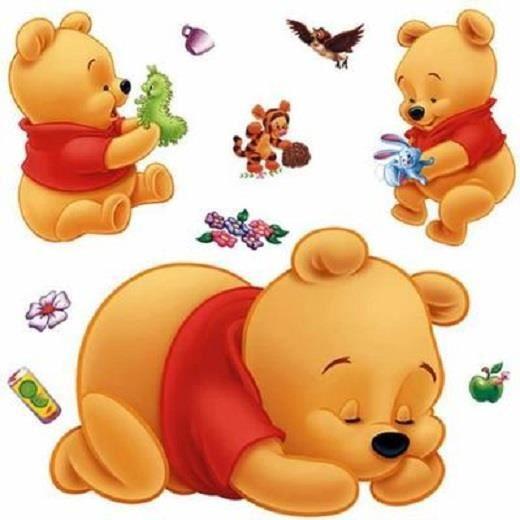 Winnie l 39 ourson autocollant chambre stickers fond sticker - Chambre winnie l ourson pas cher ...
