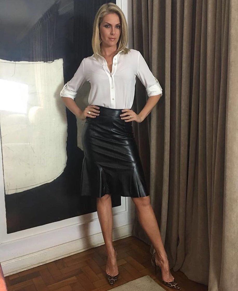 Classic Women Leather Dresses Leather Outfit Shiny Clothes